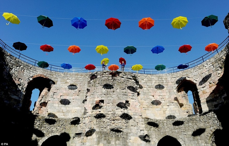 45 umbrellas
