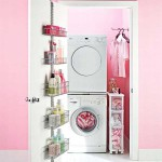 Surprising-Small-Pink-Laundry-Room-Design