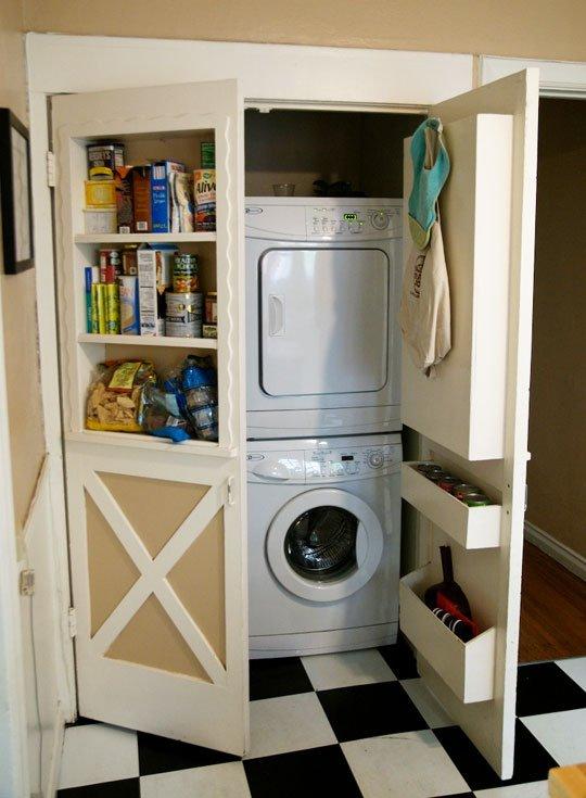 נישת כביסה חבויה במטבח