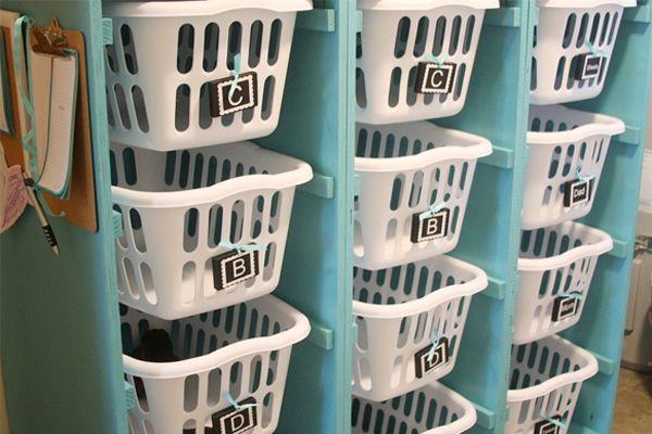 סלסילות למיון הכביסה הנקיה